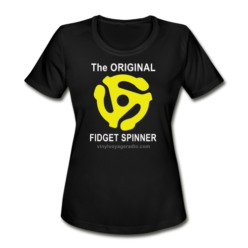Original Fidget Spinner-White Lettering - Women's Moisture Wicking Performance T-Shirt