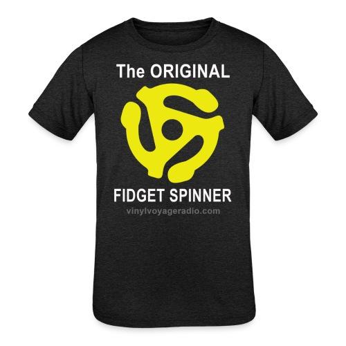 Original Fidget Spinner-White Lettering - Kids' Tri-Blend T-Shirt
