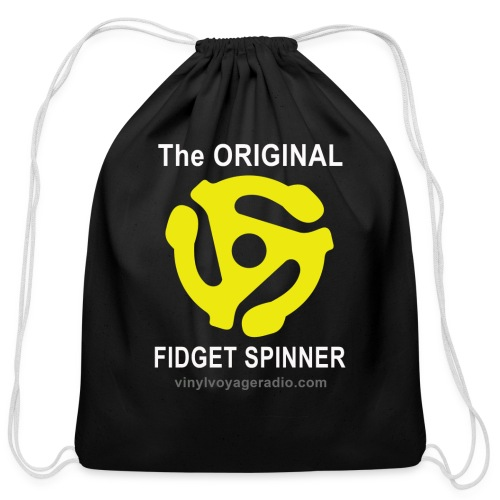 Original Fidget Spinner-White Lettering - Cotton Drawstring Bag