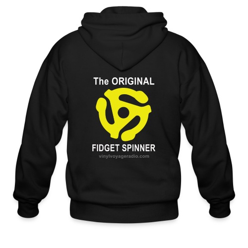Original Fidget Spinner-White Lettering - Men's Zip Hoodie