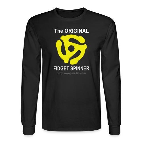 Original Fidget Spinner-White Lettering - Men's Long Sleeve T-Shirt