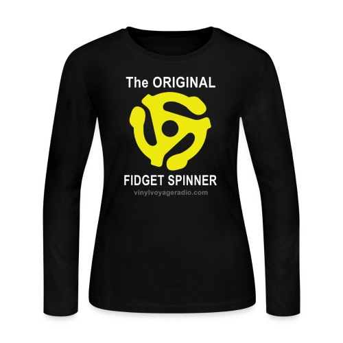 Original Fidget Spinner-White Lettering - Women's Long Sleeve Jersey T-Shirt