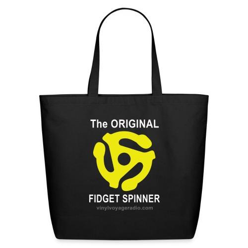 Original Fidget Spinner-White Lettering - Eco-Friendly Cotton Tote