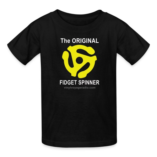 Original Fidget Spinner-White Lettering - Kids' T-Shirt