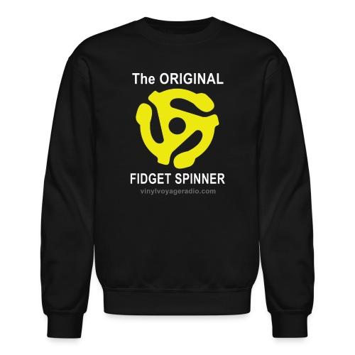Original Fidget Spinner-White Lettering - Crewneck Sweatshirt