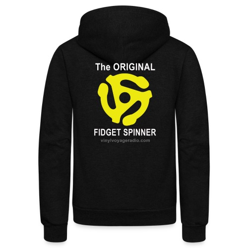 Original Fidget Spinner-White Lettering - Unisex Fleece Zip Hoodie