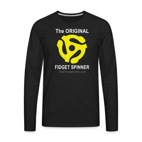 Original Fidget Spinner-White Lettering - Men's Premium Long Sleeve T-Shirt