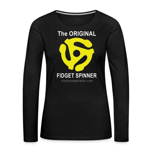 Original Fidget Spinner-White Lettering - Women's Premium Long Sleeve T-Shirt