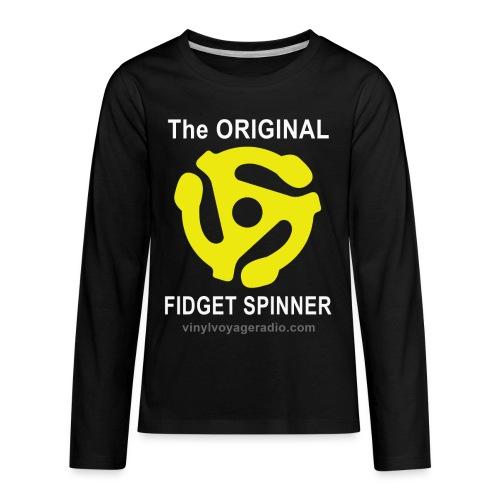 Original Fidget Spinner-White Lettering - Kids' Premium Long Sleeve T-Shirt