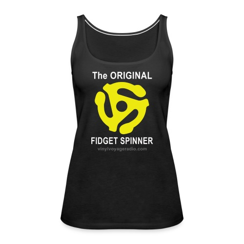Original Fidget Spinner-White Lettering - Women's Premium Tank Top
