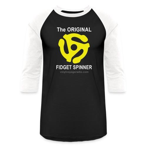Original Fidget Spinner-White Lettering - Baseball T-Shirt