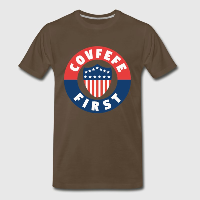 covfefe first T-Shirts - Men's Premium T-Shirt