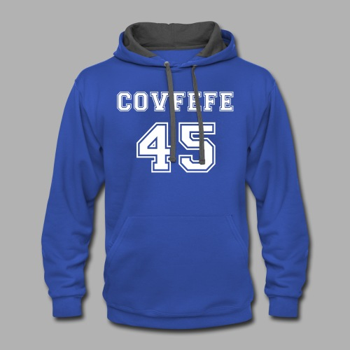 Covfefe 45 sports jersey - Contrast Hoodie