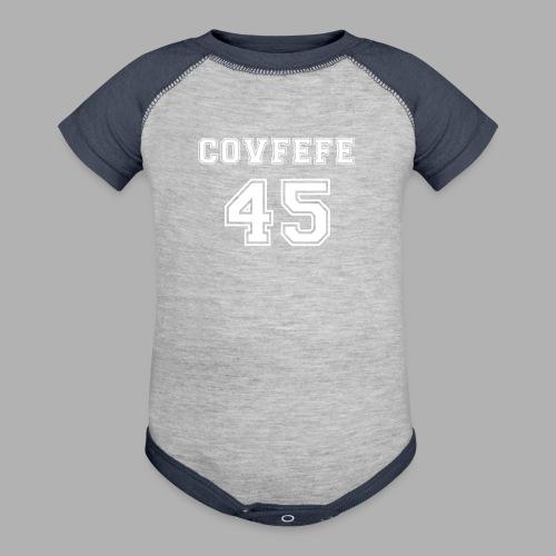 Covfefe 45 sports jersey - Contrast Baby Bodysuit