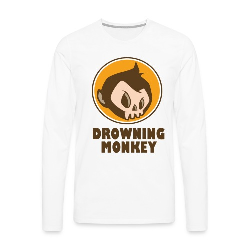 Drowning Monkey  - Men's Premium Long Sleeve T-Shirt