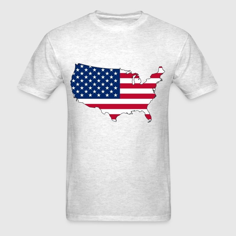 USA Flag Map T-Shirts - Men's T-Shirt