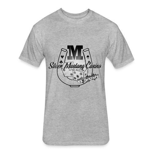 Silver Mustang Casino - Mr. Jackpots - Fitted Cotton/Poly T-Shirt by Next Level