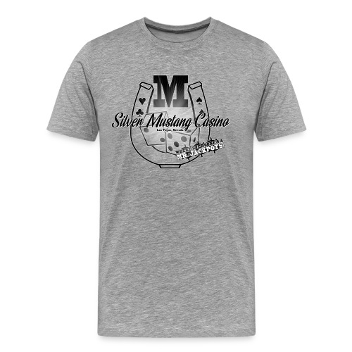 Silver Mustang Casino - Mr. Jackpots - Men's Premium T-Shirt