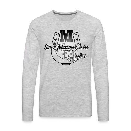Silver Mustang Casino - Mr. Jackpots - Men's Premium Long Sleeve T-Shirt