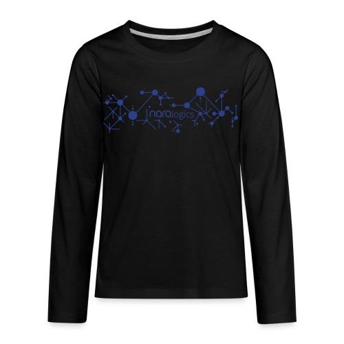 KIDS - Network / Teach a Machine to Learn (White) - Kids' Premium Long Sleeve T-Shirt