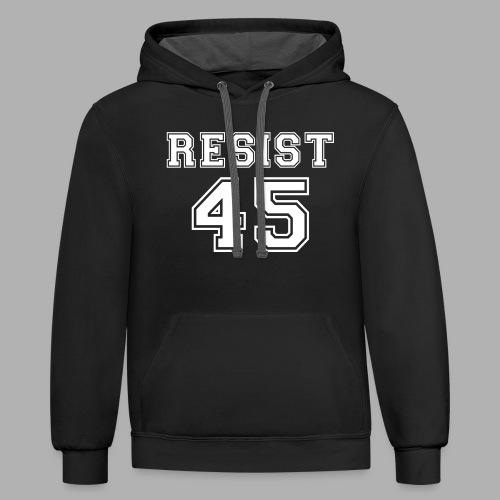 Resist 45 - Contrast Hoodie