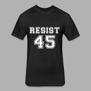 Resist 45 - Fitted Cotton/Poly T-Shirt by Next Level