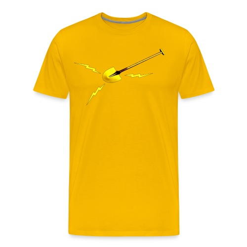 Dr. Amp's Gold Shit Digging Shovel [Twin Peaks] - Men's Premium T-Shirt