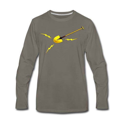 Dr. Amp's Gold Shit Digging Shovel [Twin Peaks] - Men's Premium Long Sleeve T-Shirt