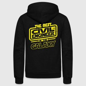 The Best Civil Engineer In The Galaxy T-Shirts - Unisex Fleece Zip Hoodie by American Apparel