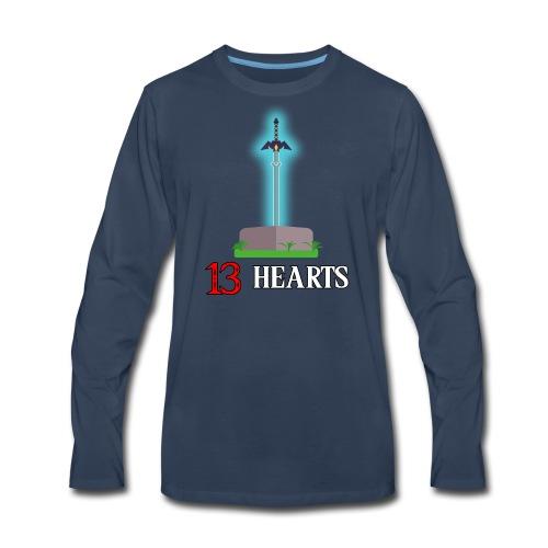 13 Hearts Men's Shirt - Men's Premium Long Sleeve T-Shirt