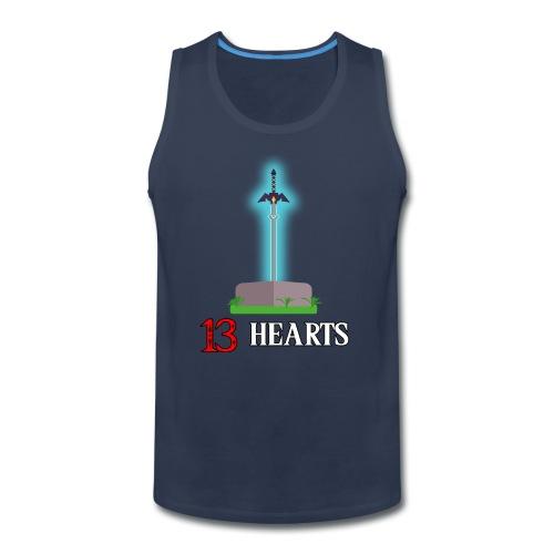 13 Hearts Men's Shirt - Men's Premium Tank