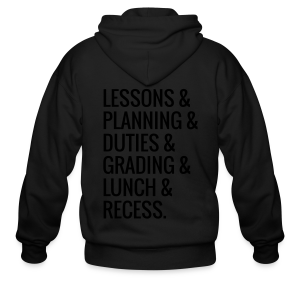 Teacher Life - Men's Zip Hoodie