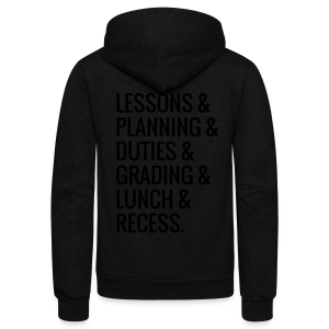 Teacher Life - Unisex Fleece Zip Hoodie