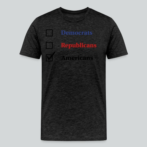 Election Ballot - Americans - Men's Premium T-Shirt