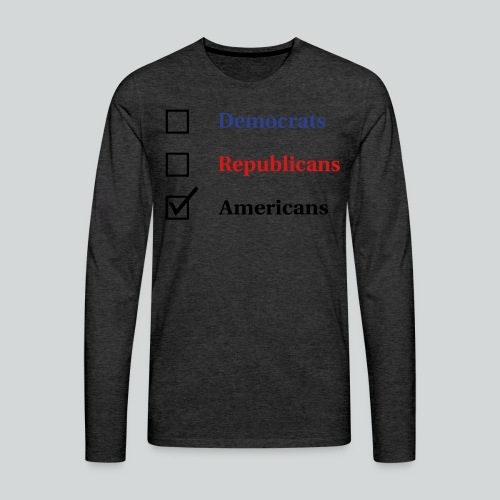 Election Ballot - Americans - Men's Premium Long Sleeve T-Shirt