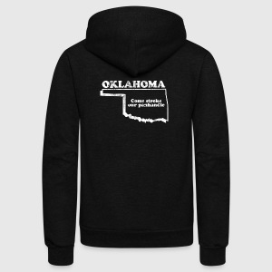 OKLAHOMA STATE SLOGAN Women's T-Shirts - Unisex Fleece Zip Hoodie by American Apparel