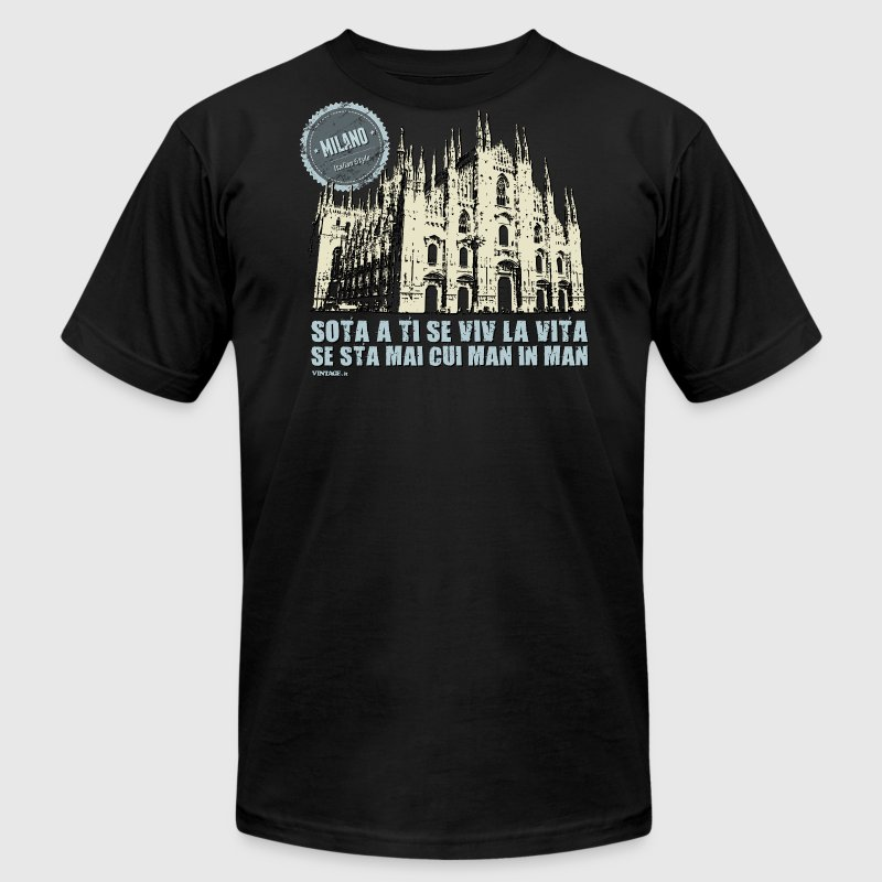 Italian cities - MILAN T-Shirts - Men's T-Shirt by American Apparel