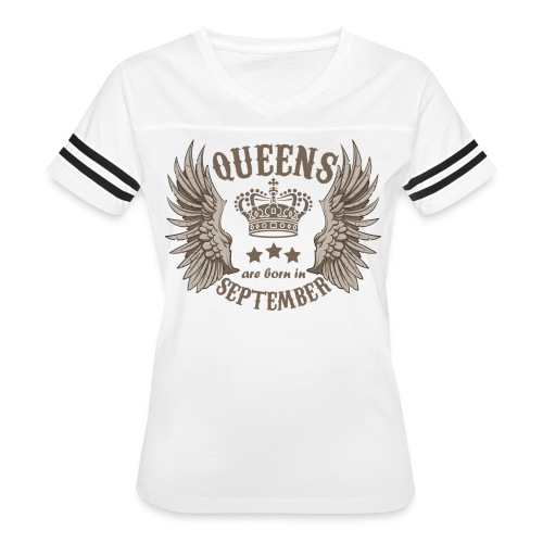 Queens are born in September - Women's Vintage Sport T-Shirt