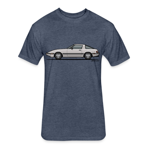 Mazda RX-7 RB Savanna Sunbeam Silver - Fitted Cotton/Poly T-Shirt by Next Level