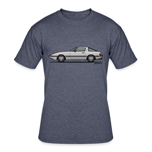 Mazda RX-7 RB Savanna Sunbeam Silver - Men's 50/50 T-Shirt