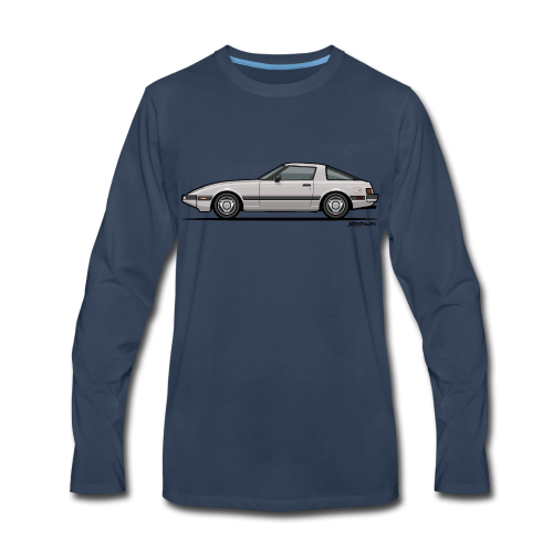 Mazda RX-7 RB Savanna Sunbeam Silver - Men's Premium Long Sleeve T-Shirt