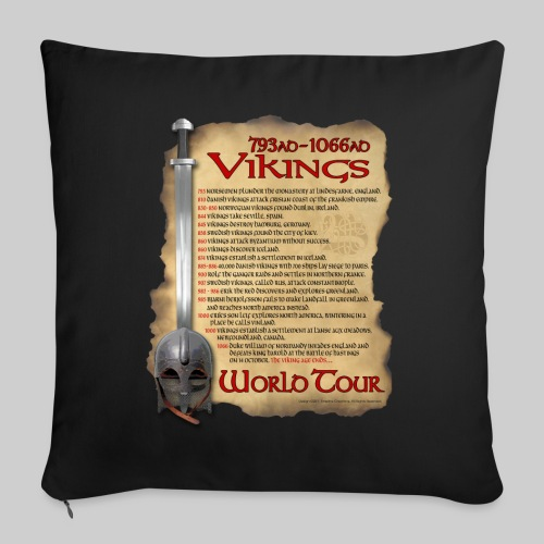 Viking World Tour 1 - Throw Pillow Cover