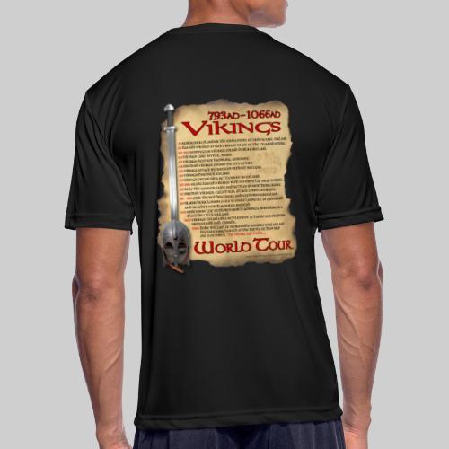 Viking World Tour 1 - Men's Moisture Wicking Performance T-Shirt