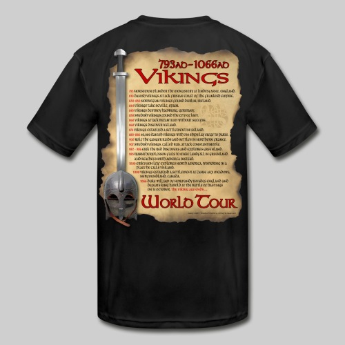 Viking World Tour 1 - Kid's Moisture Wicking Performance T-Shirt