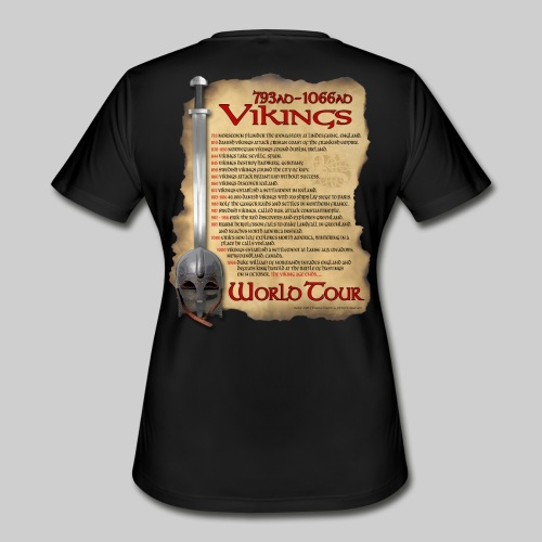 Viking World Tour 1 - Women's Moisture Wicking Performance T-Shirt