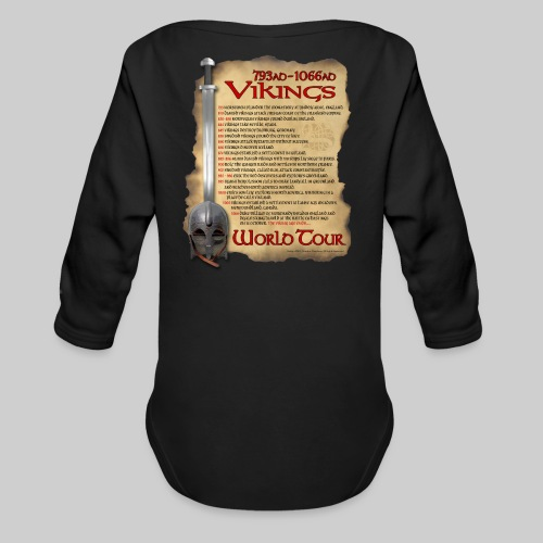 Viking World Tour - Organic Long Sleeve Baby Bodysuit