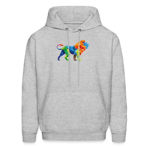 Geometric Rainbow Lion T-Shirts - Men's Hoodie