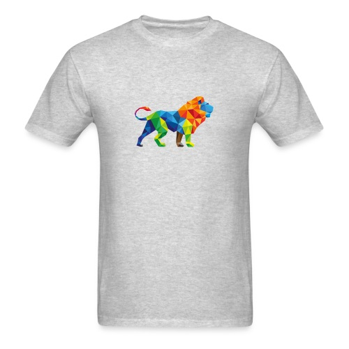 Geometric Rainbow Lion T-Shirts - Men's T-Shirt