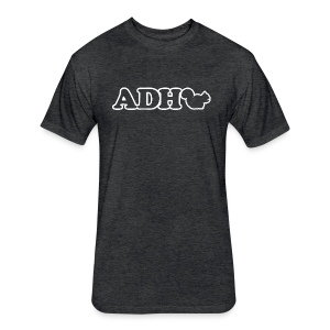 ADHD Squirrel - Fitted Cotton/Poly T-Shirt by Next Level