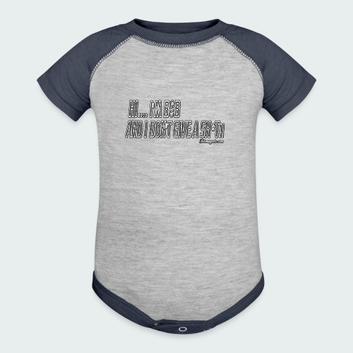 Don't Give A Sh*t - Contrast Baby Bodysuit
